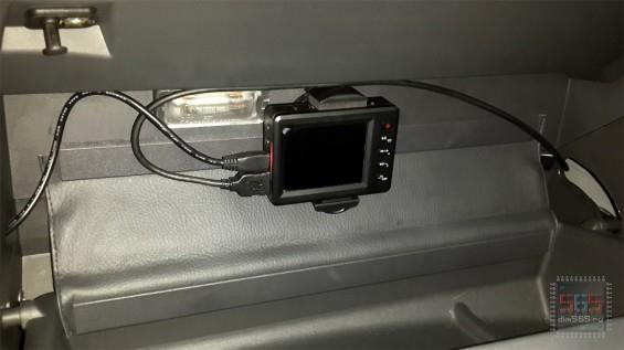 Основной блок Car Vision 1100 в бардачке