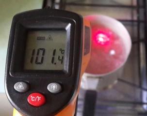 GM320 тест на кипящей воде 2