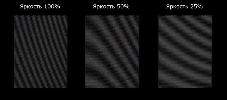 ШИМ дисплея Cube i7 Stylus
